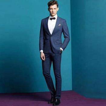 f05b252686 100% lana diseño Casual ocio elegante traje masculino trajes de boda para  hombres