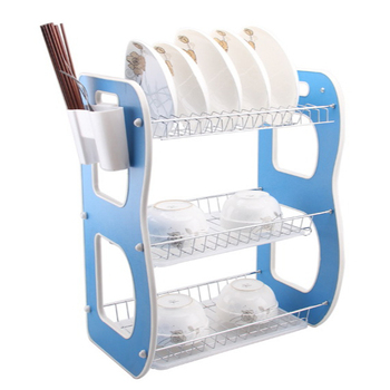 3-tier Dish Drainer Drying Rack And Drain Board,Kitchen Chrome Rustproof  Dish Cup Drying Rack Drainer Dryer Tray Cutlery Holder - Buy Baby Bottle ...