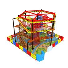 Kids commercial indoor gym rope Course/ adventure course/ Indoor playground equipment