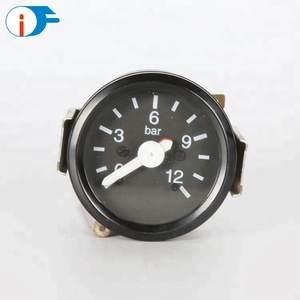 China Wholesale Yellow Zinc Plated Steel Case Two Pointers Duplex Pressure Gauge