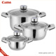 Qana Wholesale High Quality 17pcs stainless steel cookware set