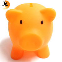 ECO friendly PVC money box piggy bank cheap plastic coin bank