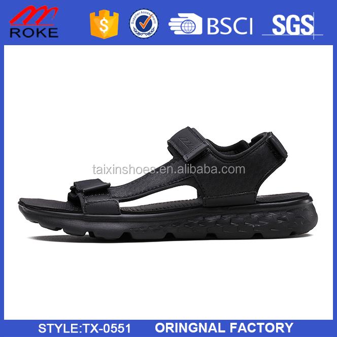 Fashion footwear casual pu men beach sandals custom logo men's sandal