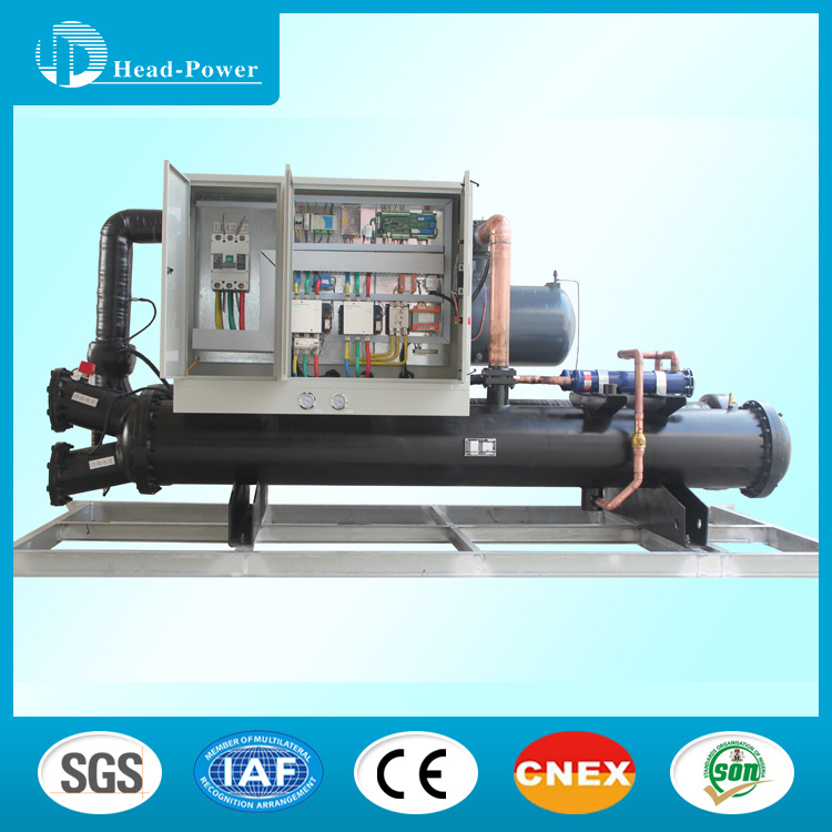 1150KW Refrigeration R134A Unit Water Cooled Heat Recovery Screw Chiller