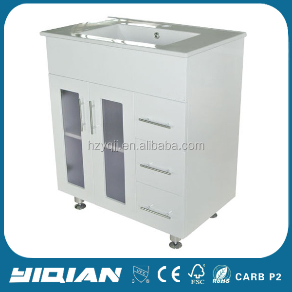 Floor Design White MDF 36 Inch Wholesales Bathroom Vanity Units