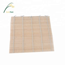 factory supply bamboo natural sushi mat with cotton line 24*24cm