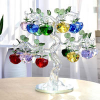 Factory directly sale Business gifts K9 crystal apple tree for wedding decoration