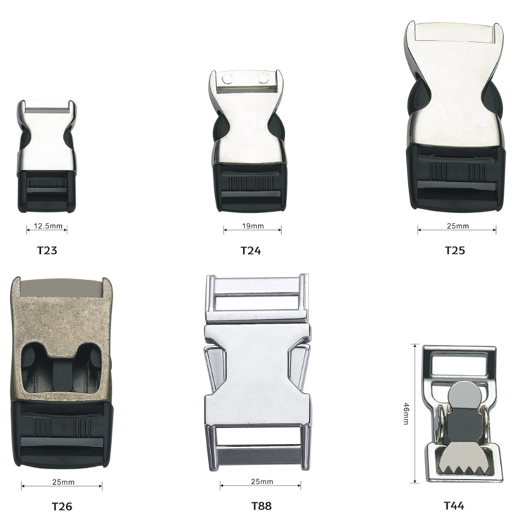 Zinc alloy steel Quick Release Buckle for dog collar