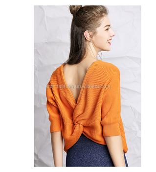 f0f2d9b8bd04 Ladies Twist Half Sleeve Crossed New Latest Design Woolen Designer ...