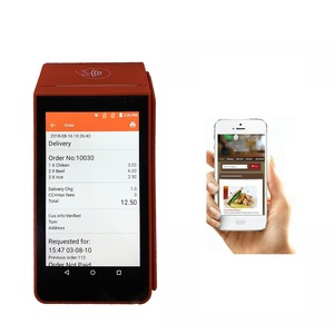 Handheld Android POS WCDMA Mobile POS Terminal with Printer