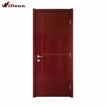 Wood Veneer Face Interior Hollow Core Flush Doors For Toilet