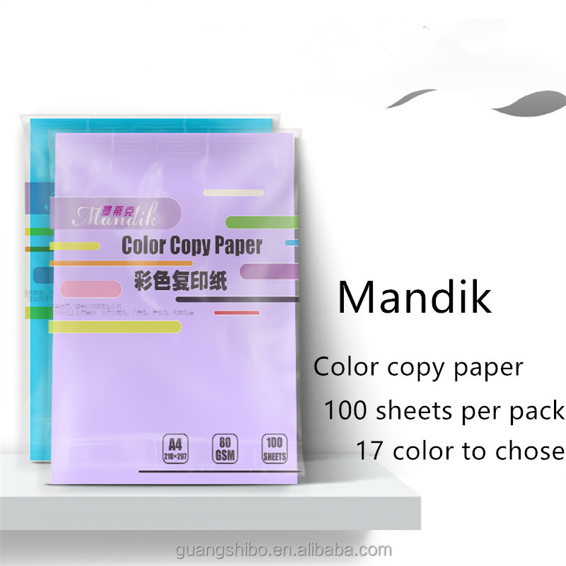 Wholesale 80g A4 one sided color paper(GSB-CCP46)