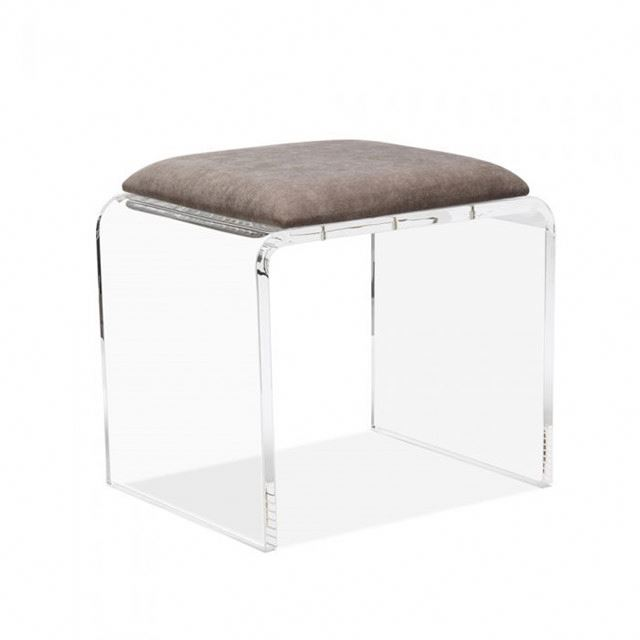 Remarkable Jac 368 Clear Acrylic Vanity Bench With White Vinyl Cushion Chrome Casters In Shenzhen Buy Acrylic Lucite Bench Plexiglass Leisure Bralicious Painted Fabric Chair Ideas Braliciousco