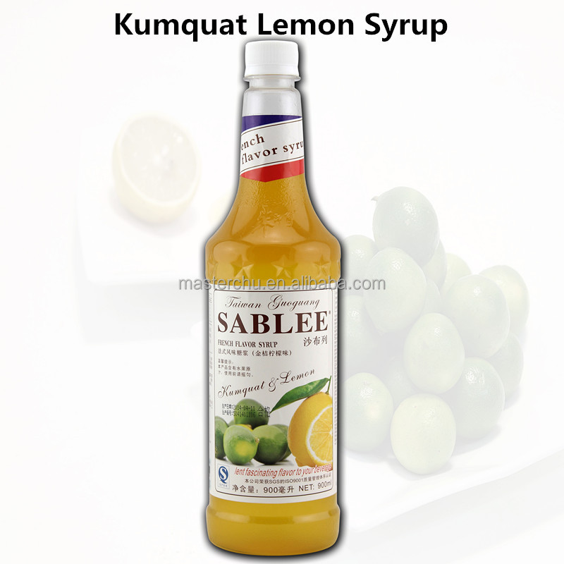 SABLEE French kumquat lemon flavoured syrup for soft drink application with HALAL 900ml