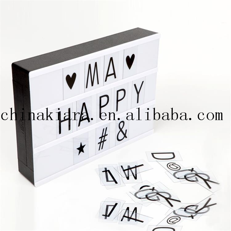 Factory Price A4 Light Box Free Combination Light Box With Letters