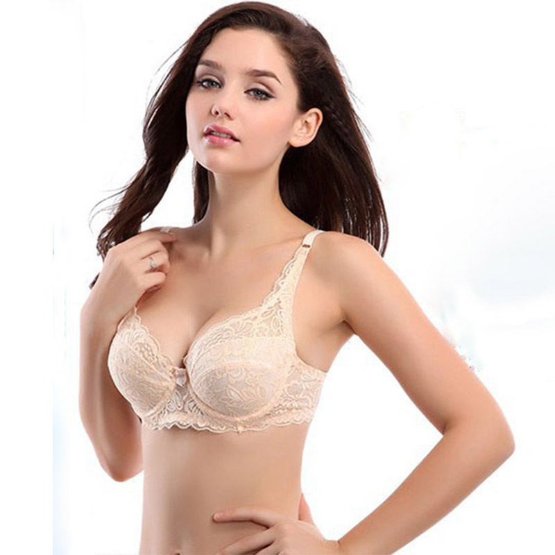 ac9e7c6572 Get Quotations · Push Up women Ultrathin sexy Lace Bra Underwire 3 4 Cup  Brassiere intimates Young girls