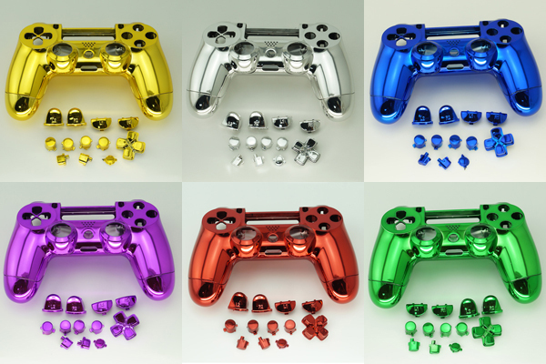 Mod Kit Parts For Ps4 Controller Chrome Gold - Buy Mod Kit Parts For Ps4  Controller,For Ps4 Controller Shell,Housing Buttons Kit For Ps4 Product on