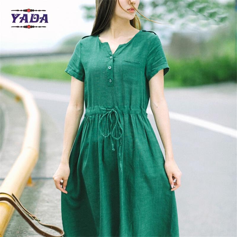 linen office dresses