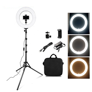 Factory Price 12 inch Dimmable Ring LED Camera Light 5500k 45W Ring Light Video Live Streaming