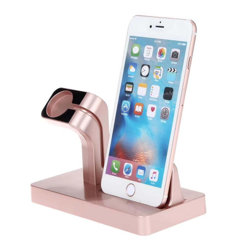 2 in 1 desk charging phone holder Multi charger Dock Station For Apple Watch ,for iPhone Charging Charger Dock With Usb Output