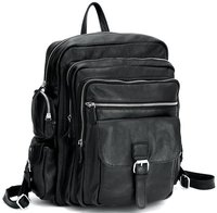 Laptop Backpack for travel school boys girls Genuine Leather rucksack book bag