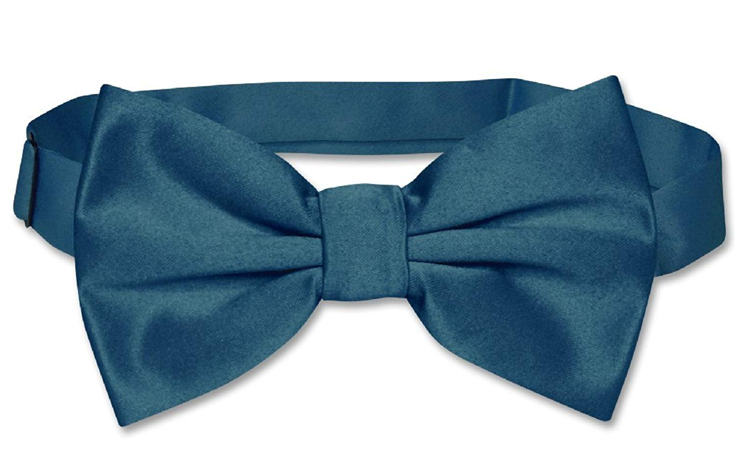 Vesuvio Napoli BOY/'S BOWTIE Solid NAVY BLUE Color Youth Bow Tie