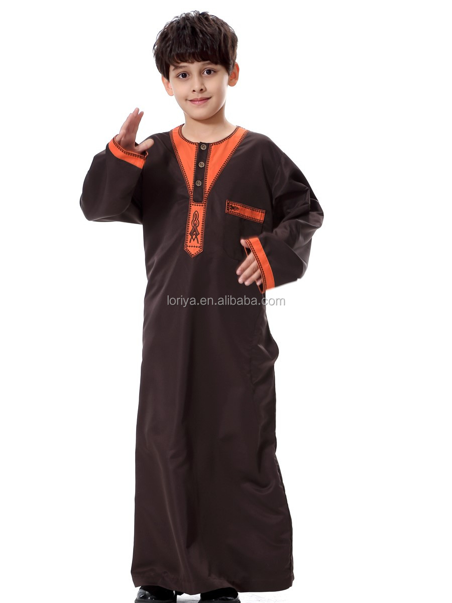 High quality boy's muslim clothing kids abaya