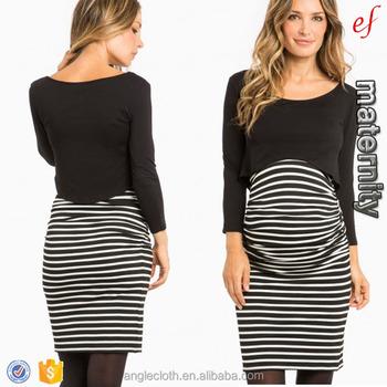 edd1e33394bf6 Chinese Wholesale Maternity Clothes Striped Nursing Dress - Buy ...