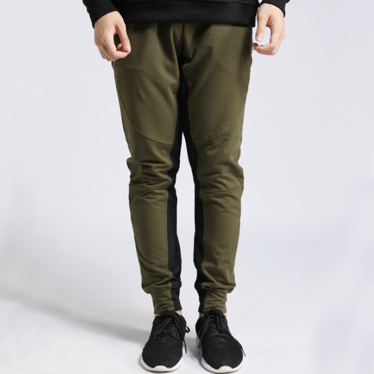 Autumn Sports Long Pants Casual Men Sweatpants Soft Fabric Army Green Trousers