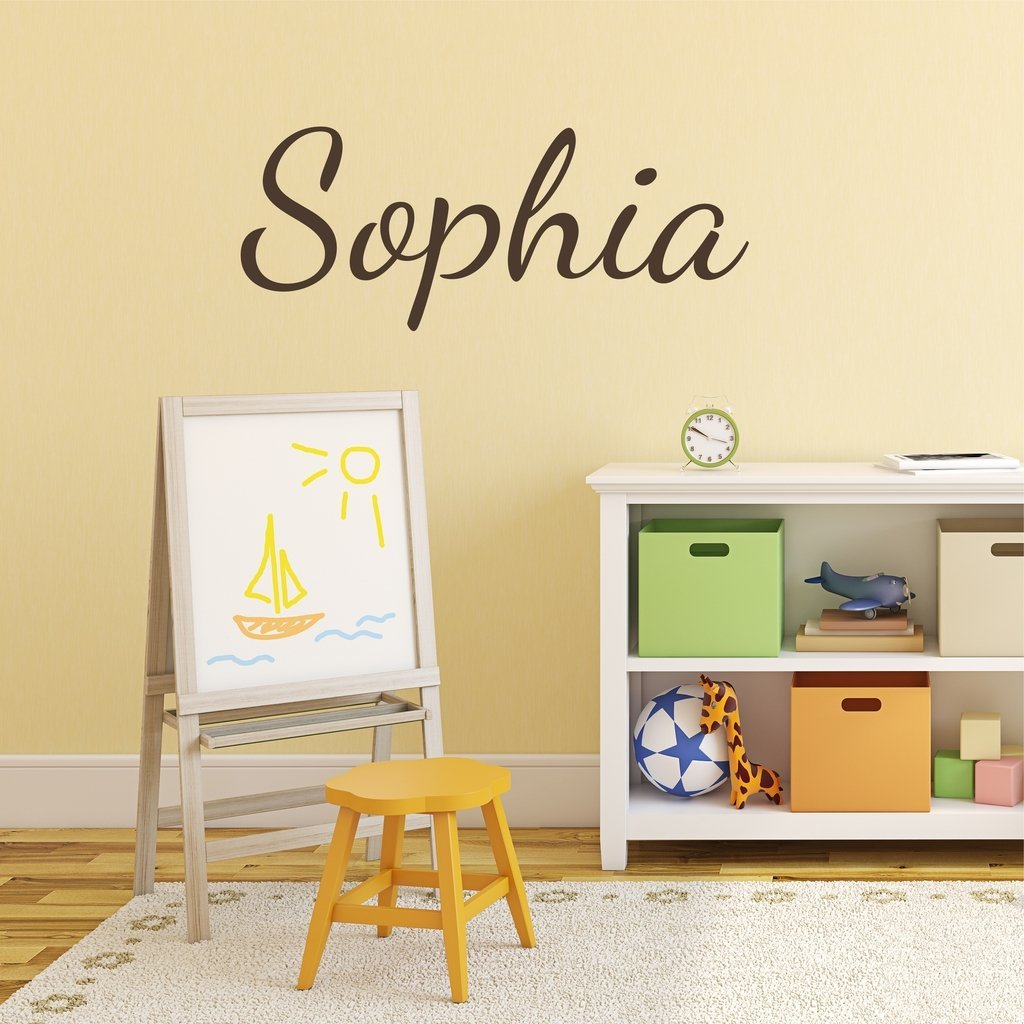 Buy Fancy Cursive Single Personalized Custom Name Vinyl Wall Art ...