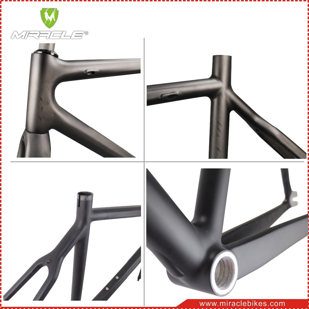 Miracle Bikes Newest full carbon fiber fixed gear bike frame, 700C ...