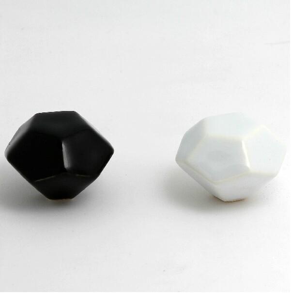 39mm Black Ceramic Kitchen Cabinet Handles White Drawer S Dresser Wardrobe Furniture Pulls In Price On M Alibaba