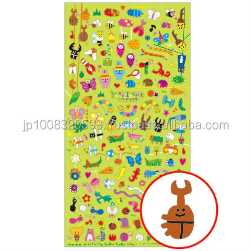 Petit Sticker 72708 YURU Insect _ Loose insect _ sticker paper _ paper craft _ most popular products