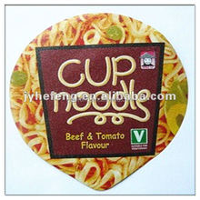 Die Cut Piece Type and Seal or Closure Use Aluminum Foil Lids For Instant Noodles