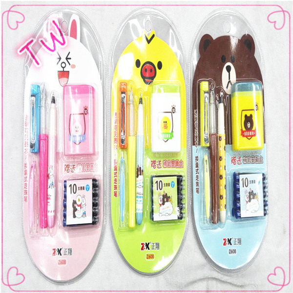 gift free <strong>school</strong> supplies sample cheap price high quality back to <strong>school</strong> mini rubber eraser pen stationery set for kids