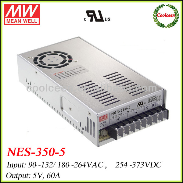 Meanwell NES-350-5 300w switch power supply 5v 60a