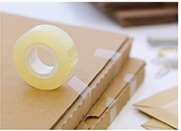 Cheap crystal super clear invisible school office stationery tape