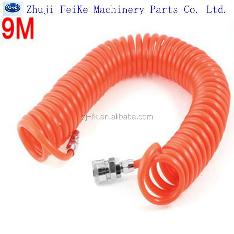 Orange/Red Pneumatic Quick Connect Polyurethane Tube