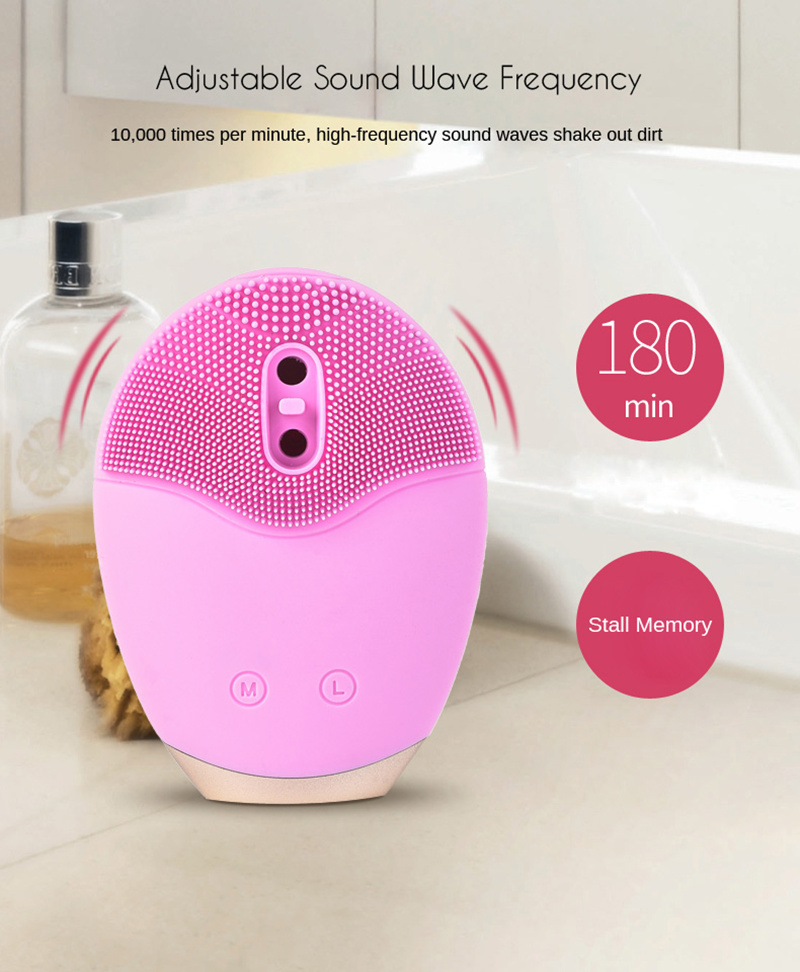 2018 trending products Automic foaming spin spa cleansing facial brushfor face skin care and blackhead remover as seen on TV