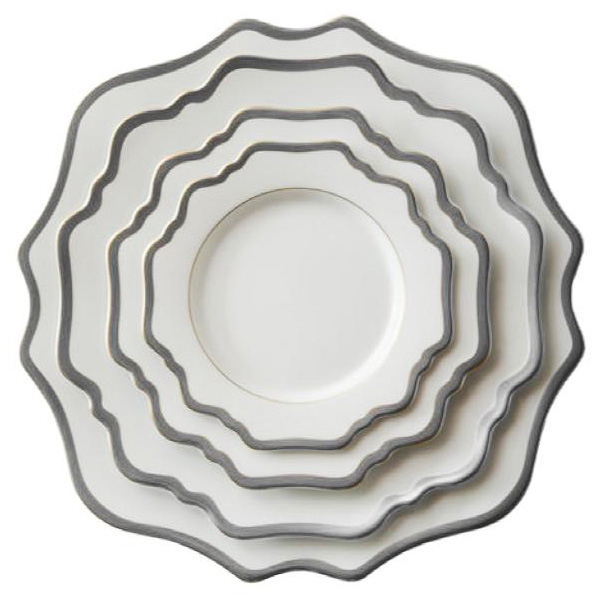 ceramic porcelain rose gold rimmed charger plates for weddings
