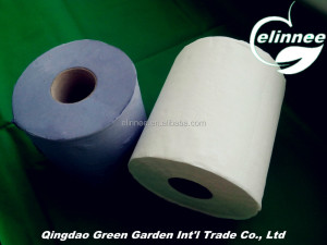 recycled pulp high quality colored hand towel roll paper, competitive price brown and blue hand paper towel roll