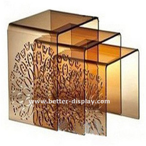 high quality acrylic lucite 3pcs Nesting Coffee Table Set