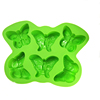 high quality FDA grade 12 cavity butterfly shape silicone ice cube tray