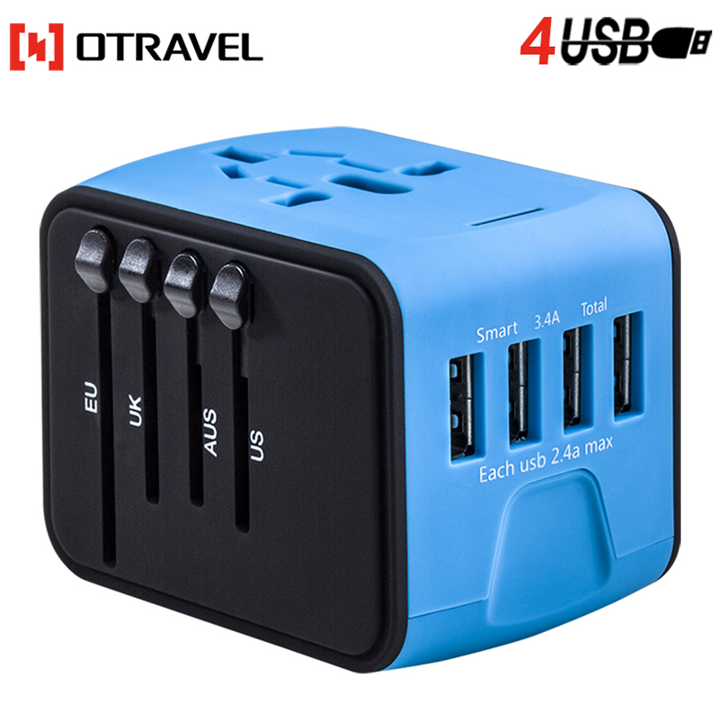 vip electronic innovative corporate anniversary gifts 2018 4 usb universal travel plug adapter