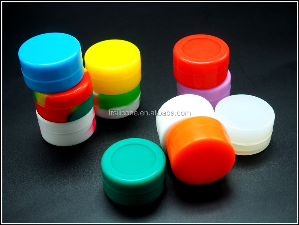 Non stick dab tools embossing or printing logo 5ml silicone container for wax/oil