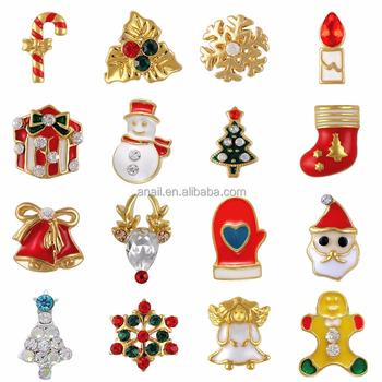 20pcs Metal 3d Nail Art Christmas Decorations Charms Nails Glitter