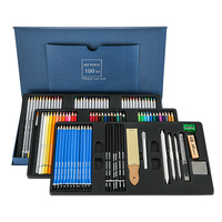 100 Professional Kids Drawing Pencils Sketching Wood Art Pencils Set
