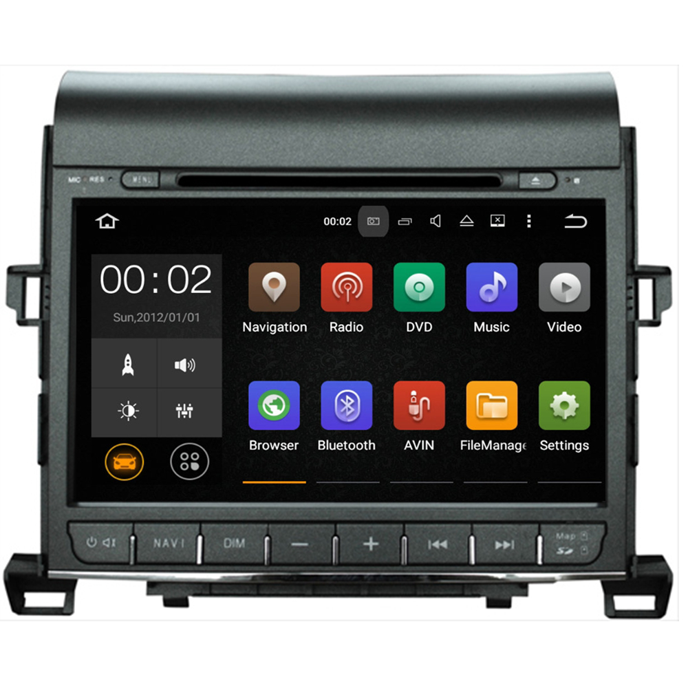 Android 5.1.1 quad core 2 din 9 inch <strong>car</strong> dvd player for <strong>Toyota</strong> Alphard 2007 2008 2009 2010 2011 2012 2013