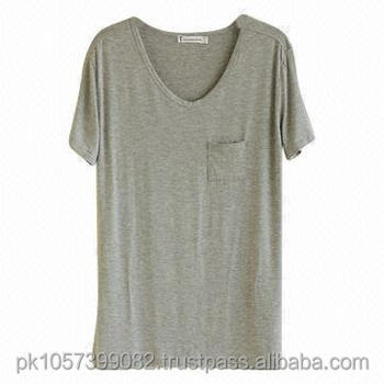 bb5dfad711a1 V Neck Blank T-shirt With Pocket For Women - Customized Plain V Neck ...