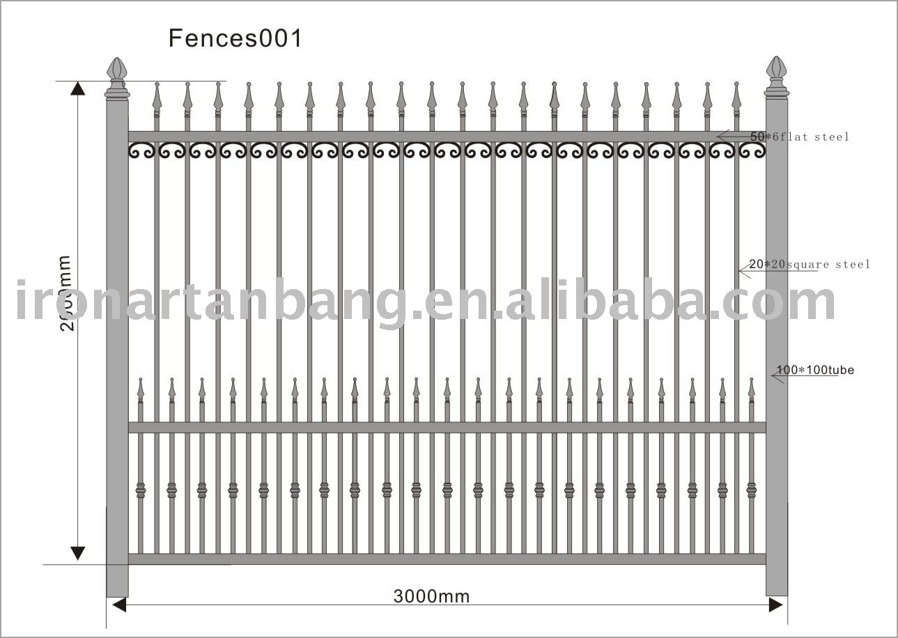 Wrought Iron Fence Metal Fence - Buy Wrought Iron Fence,Wrought Iron ...